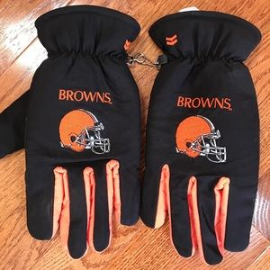 Accessories - Cleveland Browns men's gloves, size lg/exaggerated